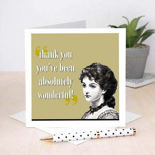 Absolutely Wonderful Retro Thank You Card