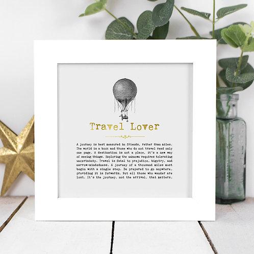 Travel Lover | Mini Foil Print in Box Frame x 3