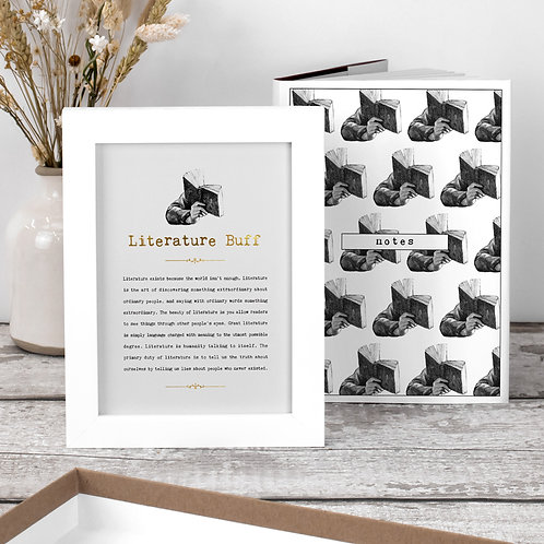 Literary Gift Set with Notebook and Print