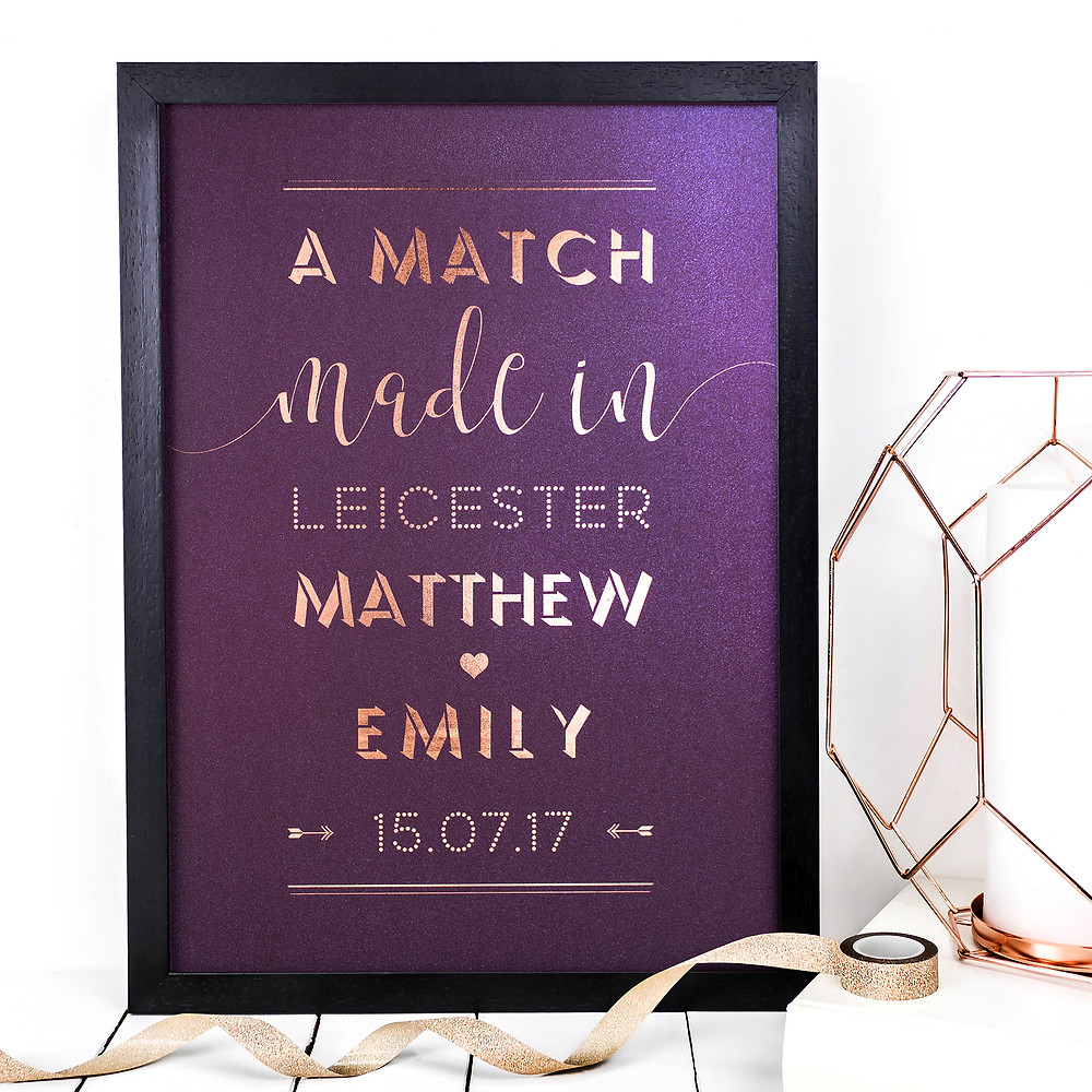 Match Made In - Foil Love Print