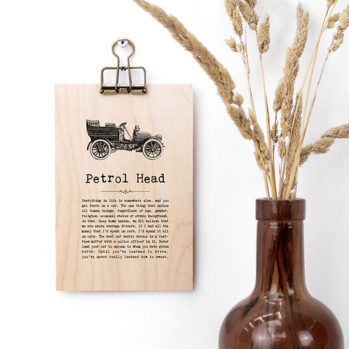 Car Quotes Mini Wooden Sign with Hanger