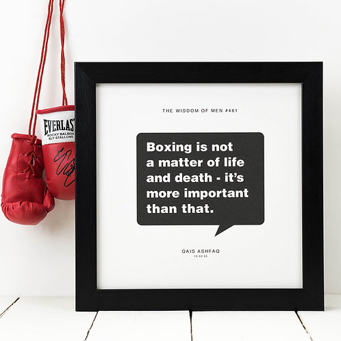 Personalised Sport Gift for Him | Boxing Print
