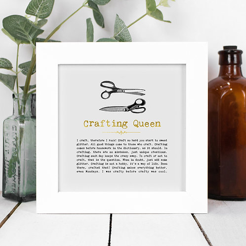 Crafting Queen | Mini Foil Print in Box Frame x 3
