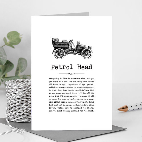 Cars Greeting Card for Car Enthusiasts