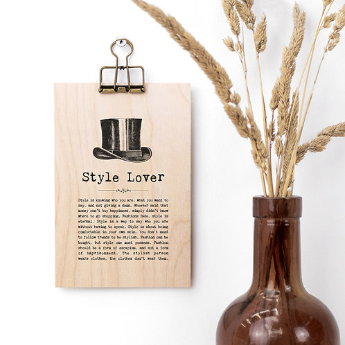 Style Quotes Mini Wooden Sign with Hanger