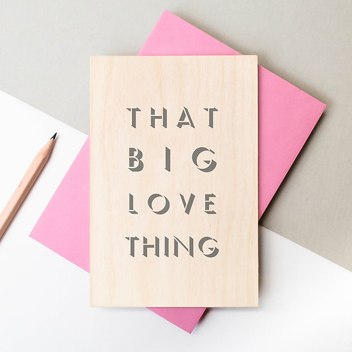 That Big Love Thing Wooden Plaque Card x 6