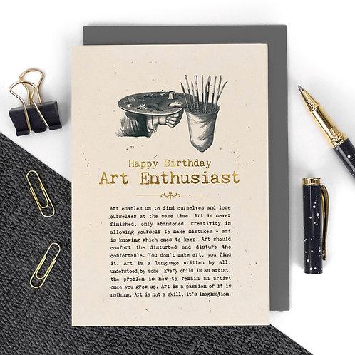 Artist Quotes Luxury Happy Birthday Card
