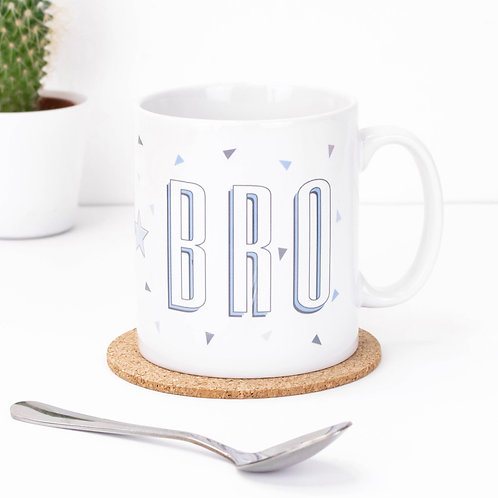 Best Bro Blue Triangles Brother Mug