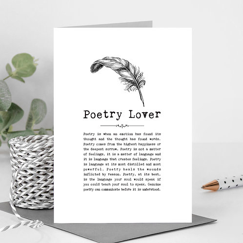 Poetry Greeting Card with Quotes