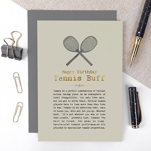 Tennis Quotes Luxury Birthday Card