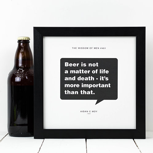 Personalised Gift for Him | Beer Print