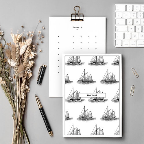 Sailing Gift Set with Calendar and Notebook