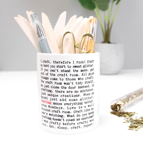 Crafting | Wise Words Storage Pot x 3