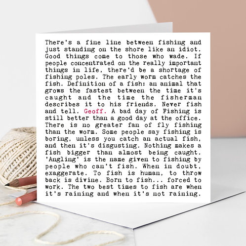Fishing Wise Words Quotes Card