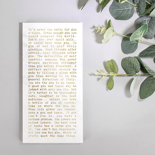 Gin Quotes Marble Stone Plaque for Her