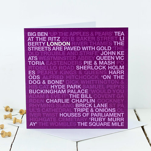 LONDON | Pack of 10 Moving Home Cards
