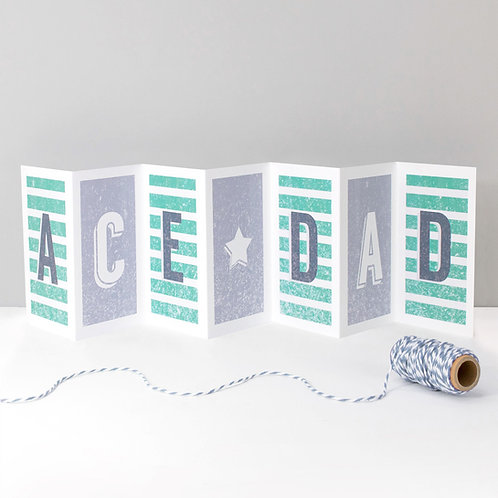 Ace Dad Concertina Banner Card for Fathers
