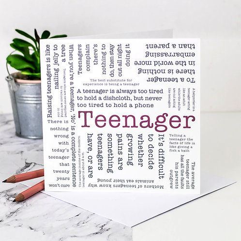 Teenager Quotes Birthday Card