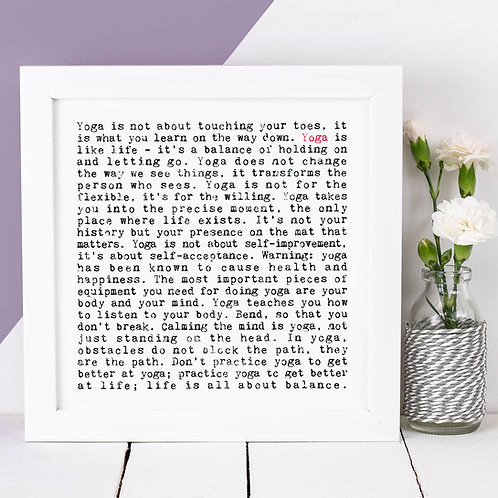 Yoga Wise Words Print x 3