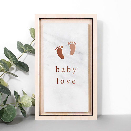Baby Love Metallic Nursery Stone Plaque