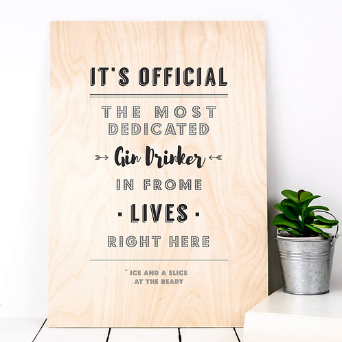 The Most Dedicated Personalised Wooden Print x 3