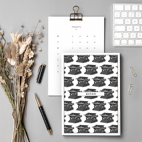 Writers Gift Set with Calendar and Notebook