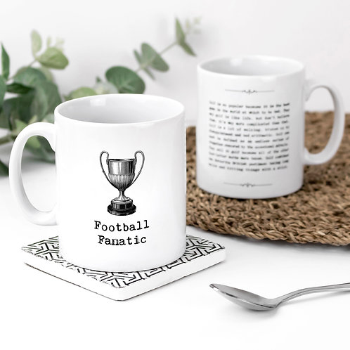 Football Fanatic Personalised Sports Quotes Mug