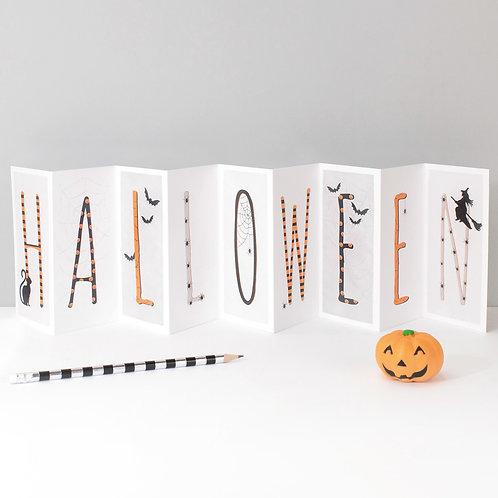 Spooky Halloween Banner Card