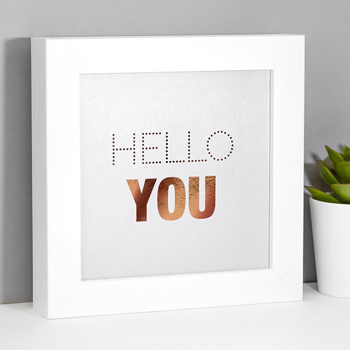 Hello You! Silver Mini Framed Print
