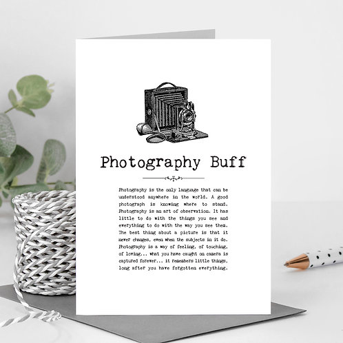 Photography Vintage Words Greeting Card x 6