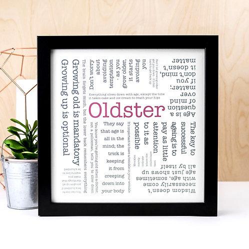 Oldster Word Cloud Print x 3