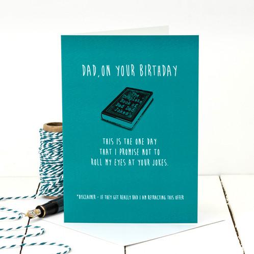 Bad Dad Jokes Funny Birthday Card