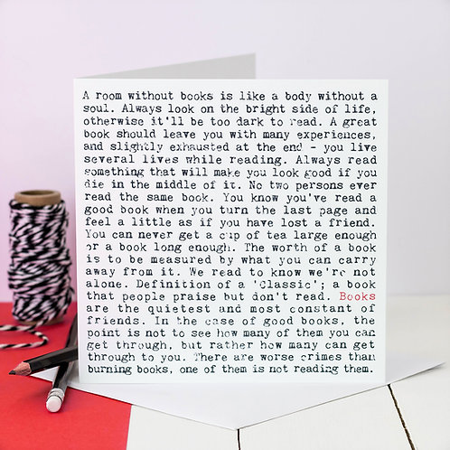 Books Wise Words Quotes Card x 6
