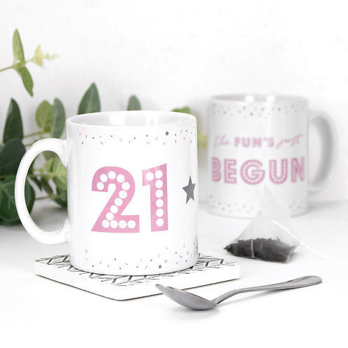 21 The Fun's Begun Birthday Mug