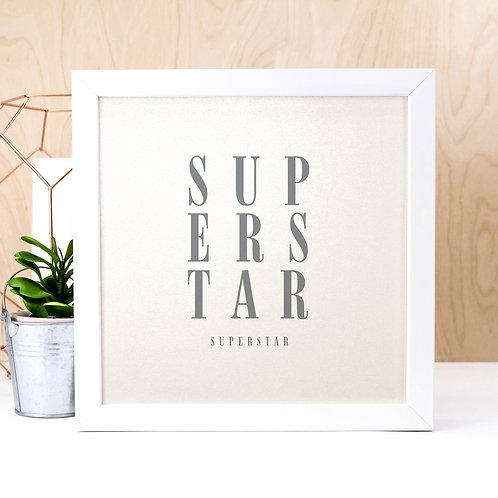 Superstar | Pearl Typographic Art Print