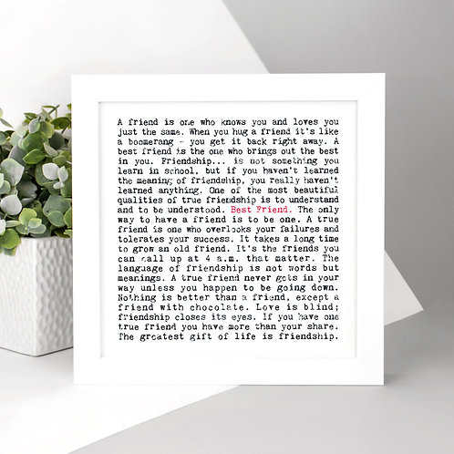 Best Friend Wise Words Print x 3
