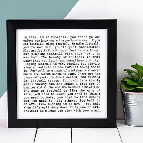 Football Wise Words Quotes Print