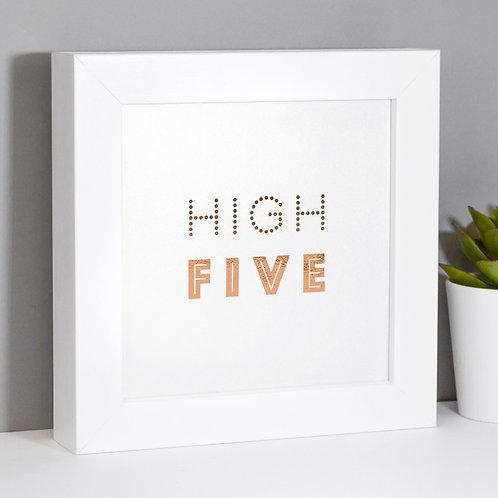 High Five Rose Gold Framed Print x 3