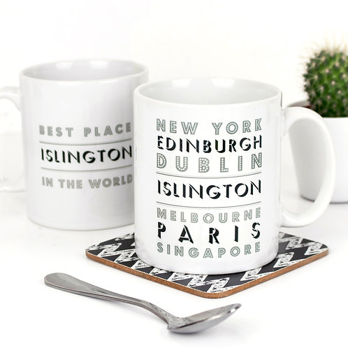 Holy Moly Locations Personalised Mug x 3