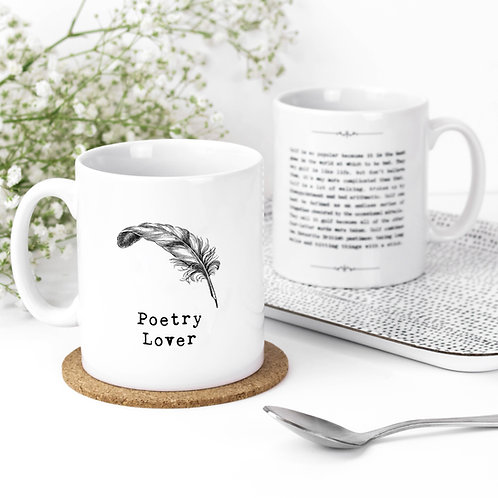 Poetry Lover Vintage Words Quotes Mug x 3