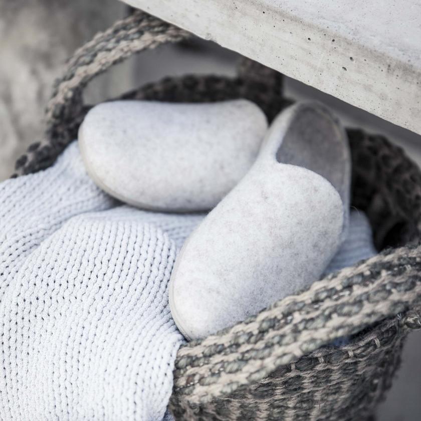 Woollen Mule Slippers for Her