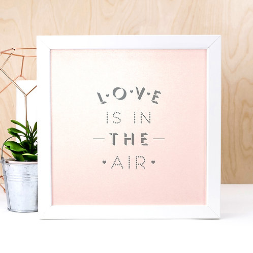 Love is in the Air Pink Print x 3
