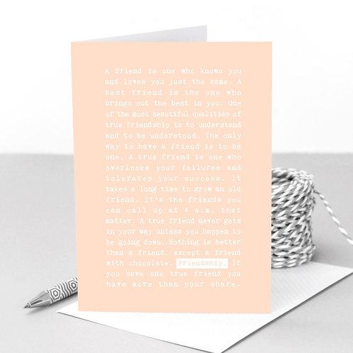 Friendship | Pretty Pastel Wise Words Card x 6