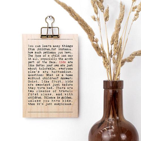 Kids Wise Words Wooden Plaque with Hanger x 3