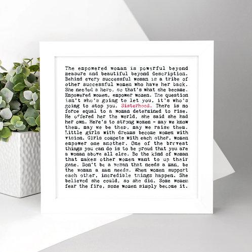 Sisterhood Wise Words Print x 3