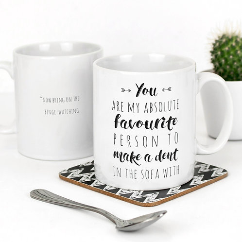 Sofa Dent Funny Quote Mug for Couples