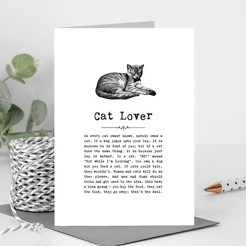 Cats Greeting Card with Funny Quotes