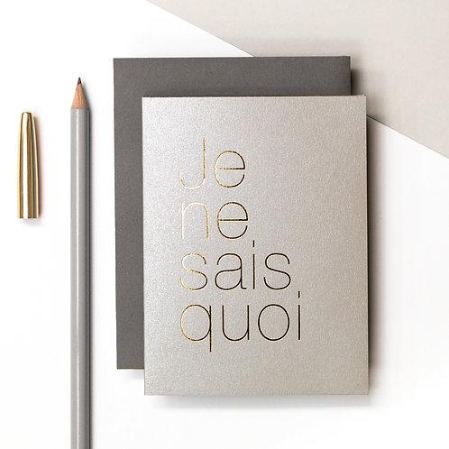 Precious Metals | Je Ne Sais Petite Metallic Card x 6