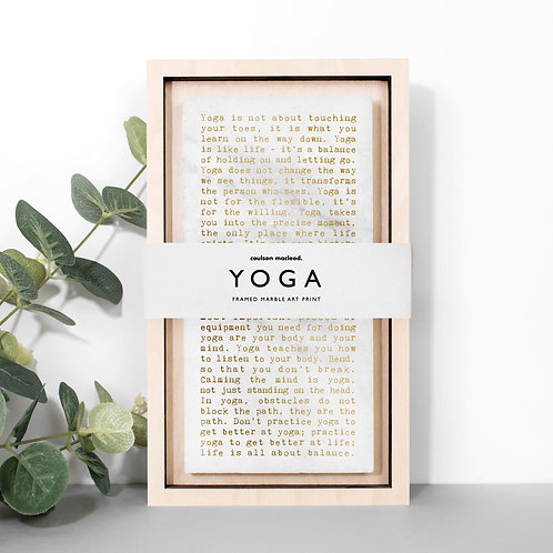 Yoga Quotes Decorative Stone Plaque