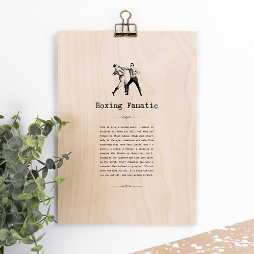 Boxing Hanging Wooden Sign for Boxers